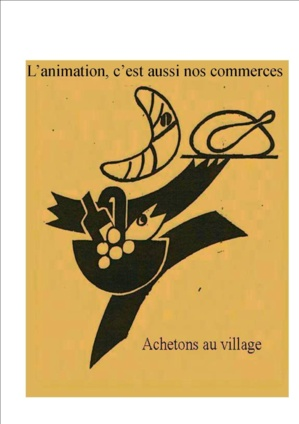 L'affiche de Jacques Auriac pour la promotion du commerce local""