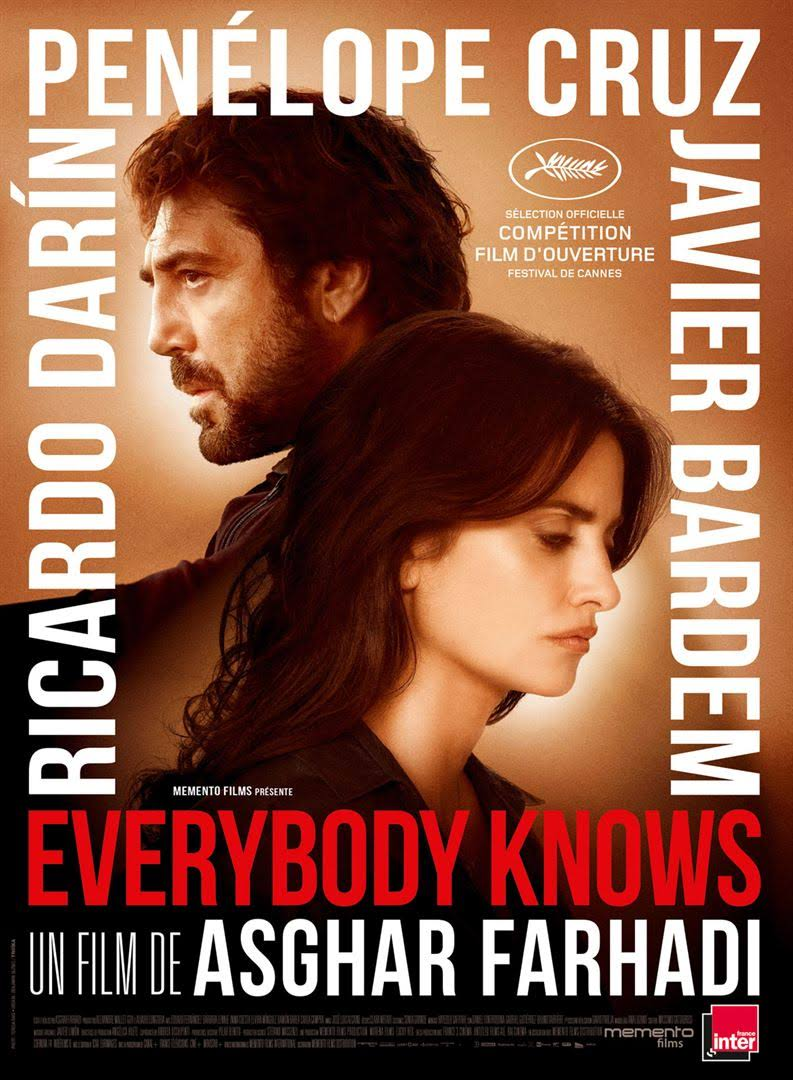 Le 20.7.2018, film à Carolles : EVERYBODY KNOWS