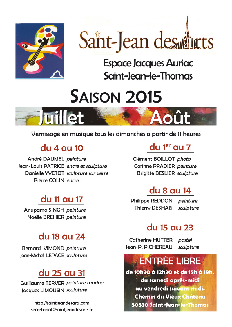 Exposants de Saint Jean des Arts de 2006 à 2018...